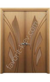 Міжкімнатні двері Інтер'єрні Двері Конвалія горіх розпашні