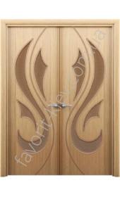Міжкімнатні двері Інтер'єрні Двері Орхідея ПЗ дуб розпашні
