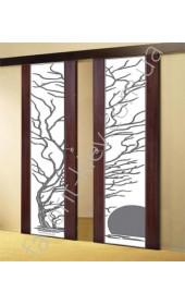 """Двери Глазго дерево с солнцем """"Woodok"""""""