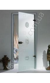Межкомнатные двери Sklo + Glass Цветочная поляна