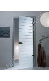 Межкомнатные двери Sklo + Glass Штрих-код (1 сатин)