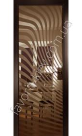 Межкомнатные двери СКС 296 коричневые