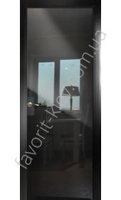 Межкомнатные двери СКС Черное стекло