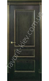 """Двери Вена-Ш (чёрная патина) золото, серебро ПГ """"Двери Беларусии"""""""