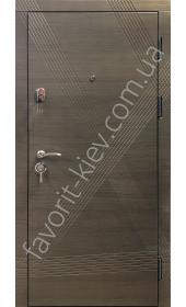 Вхідні двері «Аксіома», сірого кольору, 2 мм. сталь, 80 мм. товщина полотна